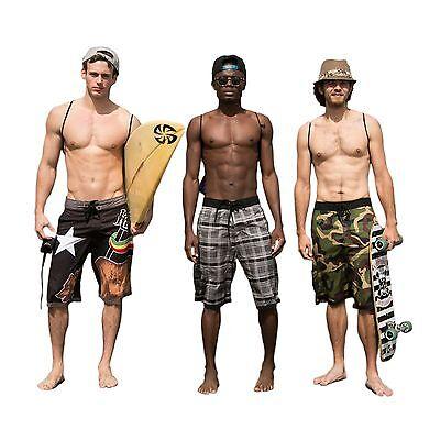 HG Leonardo- 3 Piece Beach Set: Boardshorts Quick Dry Technology,Towel & Gymsack
