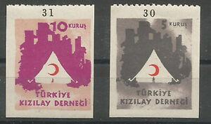 1949-TURKEY-RED-CRESCENT-RED-CROSS-TENTS-NURSING-COMPLETE-SET-MNH-OG-LUX