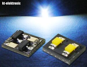 5 Stk LED Modul mit 2 SMD LEDs gelb und 20mA KSQ auf der Rückseite 5V-24V  12V