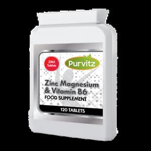 Lo-Zinco-magnesio-zma-vitamina-B6-amp-120-compresse-ossa-Pelle-energia-muscolare-purvitz-UK