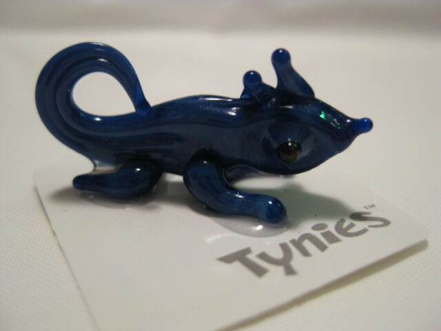 MEE Blue Lizard animal TYNIES Tiny Glass Figure Figurines Collectibles NEW 001
