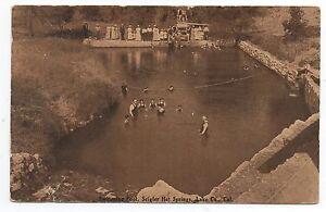 1917 Postcard Swimming Pool at Seigler Springs CA