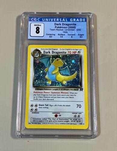 Dark Dragonite Holo Team Rocket 5/82 Unlimited CGC 8 NM/Mint Pokemon 2000