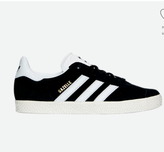 Boys' Girls' Big Kids Youth adidas Gazelle J Casual Shoes Size 7 Suede Black
