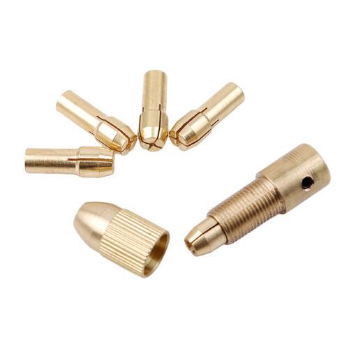 7pcs Small Electric Copper Drill Bit Collet Micro Board Wood Twist Chuck Tool YU