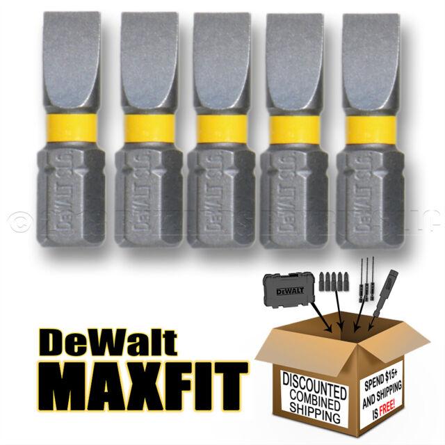 L Power Bit S2 Tool Steel 2 Pc. Dewalt Maxfit Slotted 8-10 X 2 In