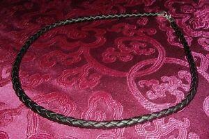 Geflochtenes-Lederband-Lederkette-925er-Silberverschluss-3mm-ALLE-LANGEN
