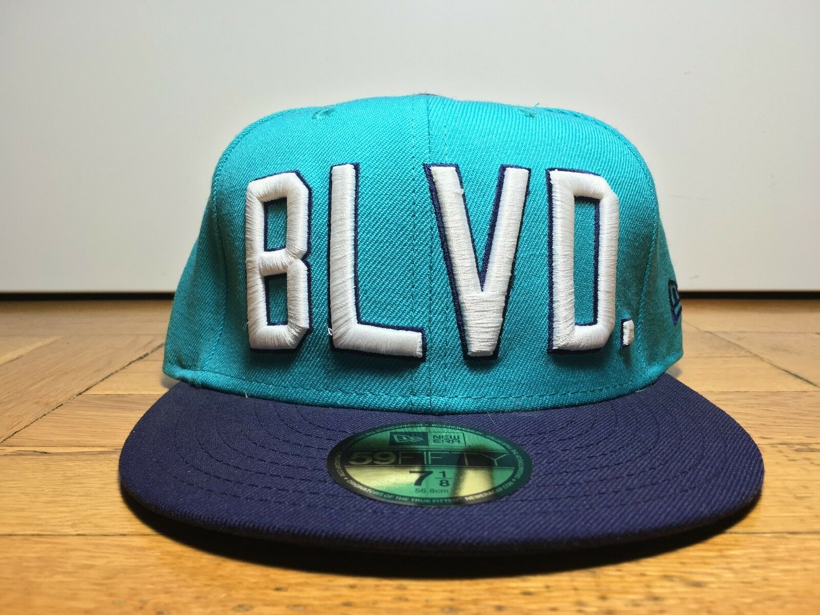 Primitive x Hat New Era BLVD Fitted Hat x TEAL PURPLE Size 7 1/8 NWT RARE DEADSTOCK e1ff05
