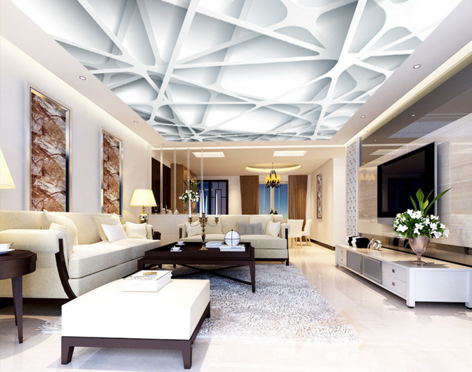 3D Weiß Frame 864 Ceiling WallPaper Murals Wall Print Decal Deco AJ WALLPAPER
