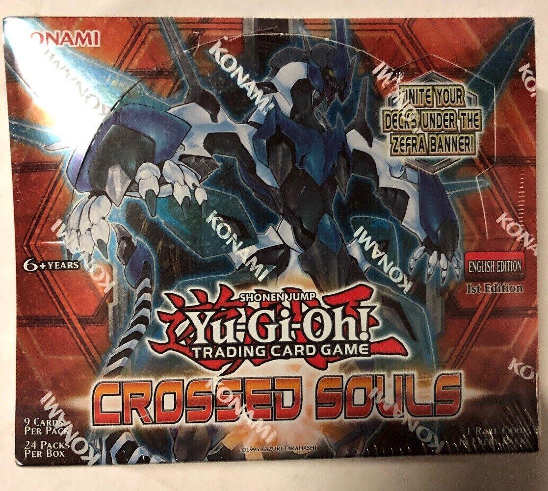 Yugioh Crossed Souls Usine Scellé Booster Boîte 1st Édition 24 Paquets 9 Cartes