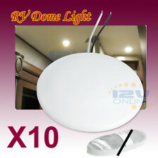 "10x 4.5"" 12V LED Ceiling Down Light RV Camper Cabin Under Cabinet Dome Lamp Warm"
