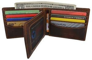 Hunter-Leather-RFID-Blocking-Mens-Multi-Card-ID-Holder-Bifold-Wallet