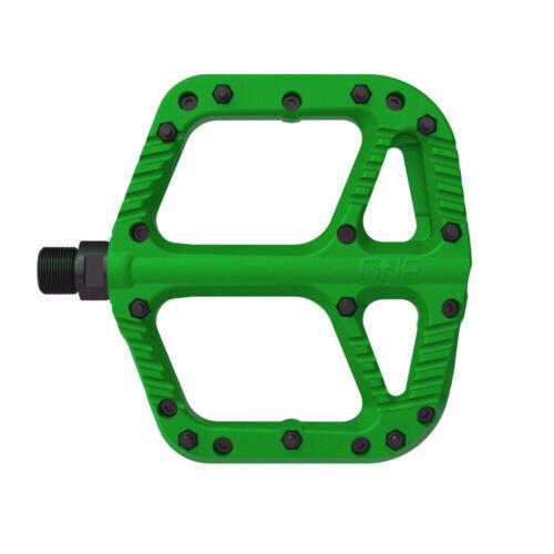 Green OneUp Components Comp platform pedals pair