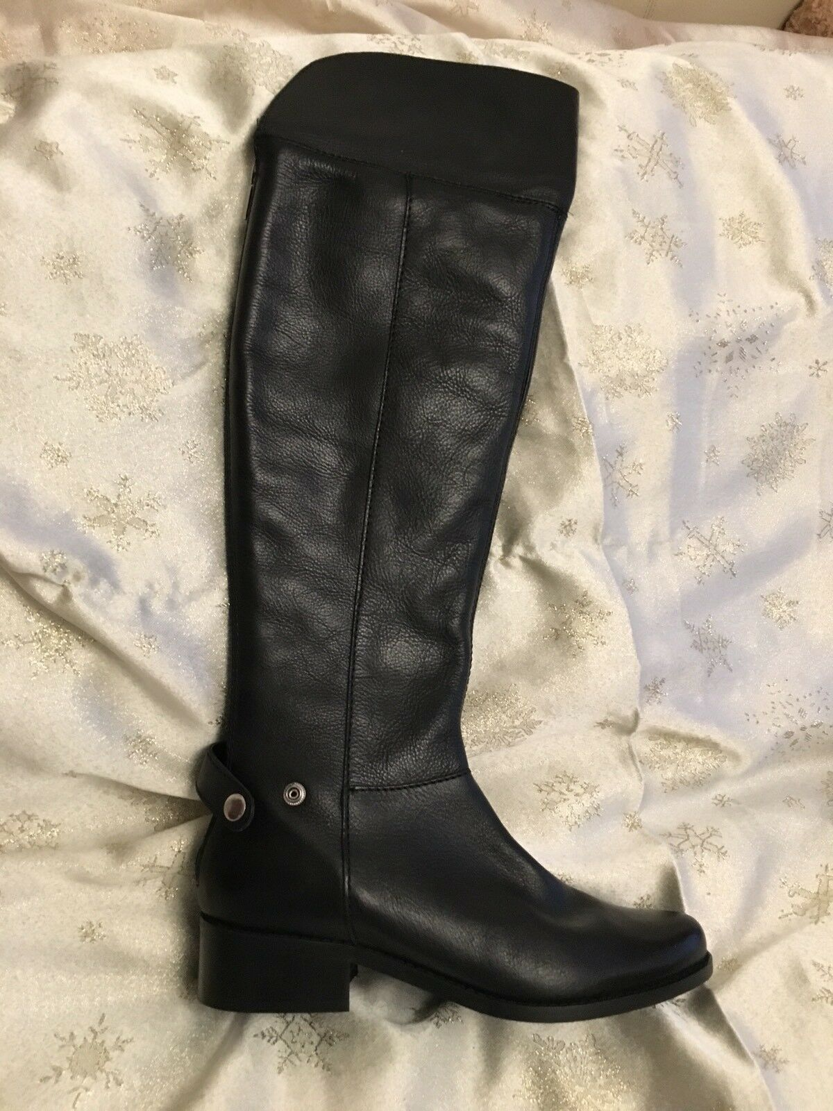 Dune Black Leathers Boots Sz 5 New  178