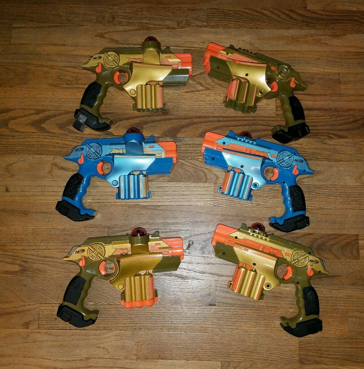 NERF Lazer Tag Guns Job Lot 6 for Parts Repair Blasters LTX Phoenix Electronic