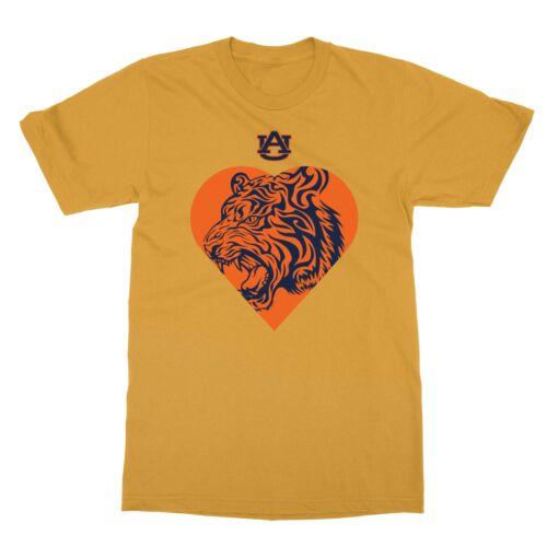 Orange Men/'s T-Shirt Auburn Tigers Tiger Heart