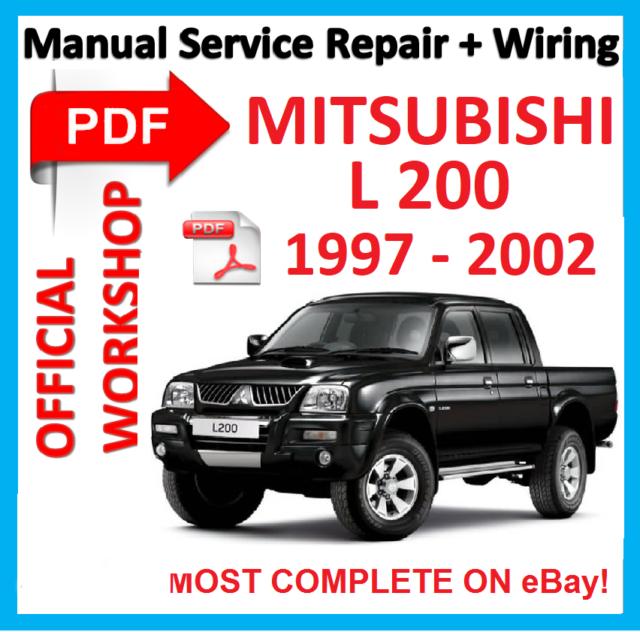 official workshop manual service repair for mitsubishi l200 l 200 rh ebay co uk Factory Service Repair Manual GM Service Repair Manuals