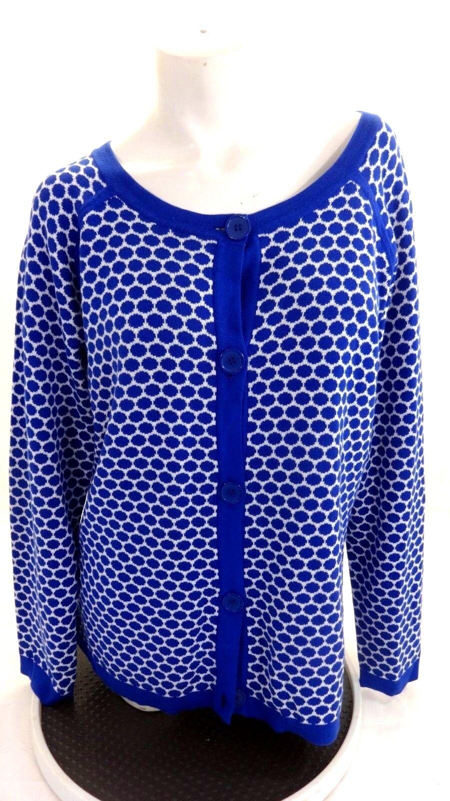 128 NWT NWT NWT PENDLETON WOMENS blueE REVERSIBLE COTTON CARDIGAN SWEATER SIZE XL 1ac9c4