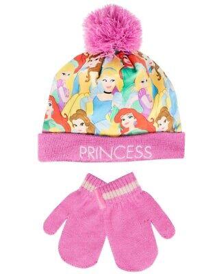 Romantico Principessa Disney Nuovo Di Zecca Inverno Cappello E Guanti Set Età 6 A 8-mostra Il Titolo Originale Delizioso Nel Gusto