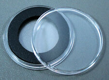 10 Air-Tite 26mm Black Ring Coin Holder Capsules for Small Dollars