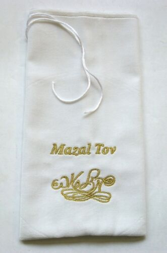Jewish Glass Breaking Mazel Tov pouch for Jewish weddings NEW Groom glass cover