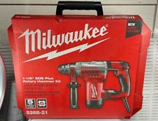 New Listingmilwaukee Rotary Hammer 8 Amp Corded Anti Vibration Handle With Case 5268 21