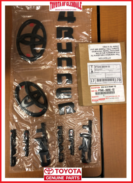 4runner toyota trd road blackout kit emblem genuine oem overlay parts dragtimes