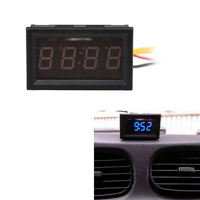 Digit 0.4inch Blue LED Digital Electronic Clock for Car Motorcycle Motor