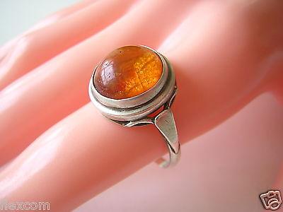 Loose Diamonds & Gemstones Jewelry & Watches Generous Antiker Ring 835 Silber Mit Honig Bernstein Rund 19,7 Mm 3,5 G Amber