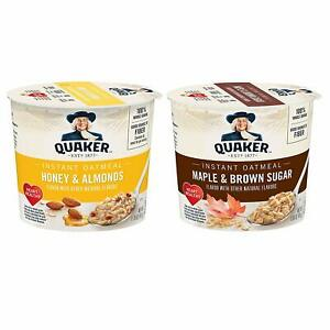 Quaker-Instant-Oatmeal-Express-Cups-Variety-Pack-Brown-Sugar-amp-Honey-12-Cups