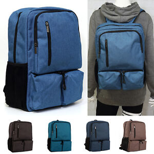 Image is loading Unisex-Canvas-Travel-Laptop-Sport-Camping-Backpack-School- 6118e92b84