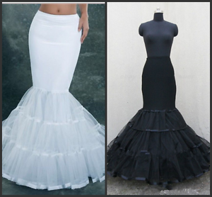 Lycra Tulle White Mermaid Trumpet Style Wedding Gown Petticoat Crinoline Slip