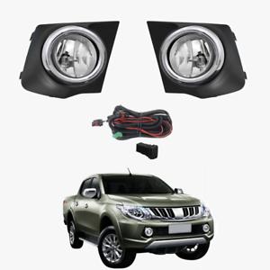 Fog Light Kit For Mitsubishi Triton Mq 2015 2017 With Wiring Switch Ebay