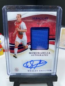 2020 Panini Immaculate Soccer WESLEY SNEIJDER Patch Autograph SAPPHIRE 6/25 AUTO
