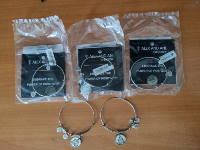 Alex and Ani Disney Parks Silver Set Retired Lot Animal Magic Kingdom Epcot HS