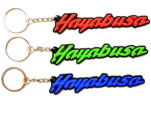 Key Ring For Suzuki Hayabusa Keychain 3D Soft Rubber Gifts Accessories Motors