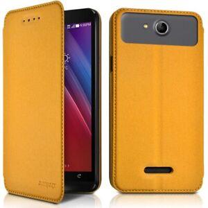 Etui-a-Rabat-Couleur-Jaune-Ref-7-A-pour-Smartphone-Samsung-A10
