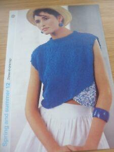 Humour Vintage Rare 1980 S 1985 Knitting Pattern Femmes Coton Top Court 32 38 In (environ 96.52 Cm)-afficher Le Titre D'origine