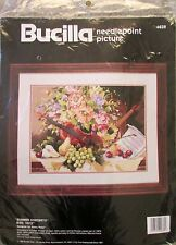 Bucilla needlepoint picture Summer Concerto by Nancy Rossi #4638, 1990
