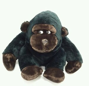 Vintage 1992 Fable 14 Big Black Gorilla Monkey Plush Stuffed Animal