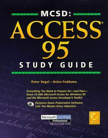 Very Good, Mcsd: Access 95 Study Guide (MCSD training guide), Vogel, P, Hardcove