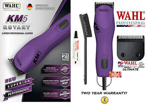 Wahl Km5 Violet Ultime 2-speed Coupe-ongles Kit&10 Set Lame Animal Chien Chat