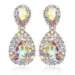 Halo-Drop-Austrian-Crystal-Rhinestone-Chandelier-Dangle-Earrings-Studs-E117a-AB