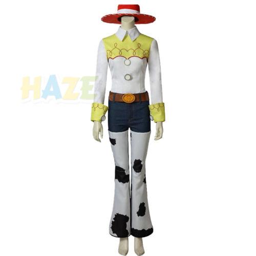 Toy Story 4 Woody Cowboy Jessie Costume Halloween Cosplay Suit Uniform Full Set