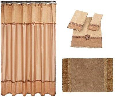 Towel Set Rug Avanti Linens Braided Medallion Shower Curtain Granite Grey