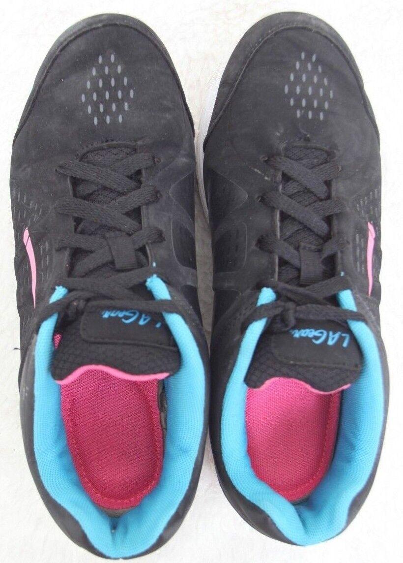LA GEAR Chaussures De Course Noir Bleu & rose NEUF 9 - 40.5 European Women's Woman's
