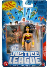 "JUSTICE LEAGUE UNLIMITED_WONDER WOMAN 4½ "" fig._Yellow Choker_Arm Band_Bracelets"