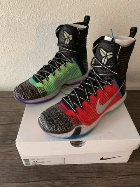 46ae7718647a 2015 NIKE KOBE X 10 ELITE SE WHAT THE MULTI-COLOR REFLECT SILVER 815810-