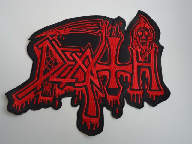 DEATH LOGO EMBROIDERED BACK PATCH