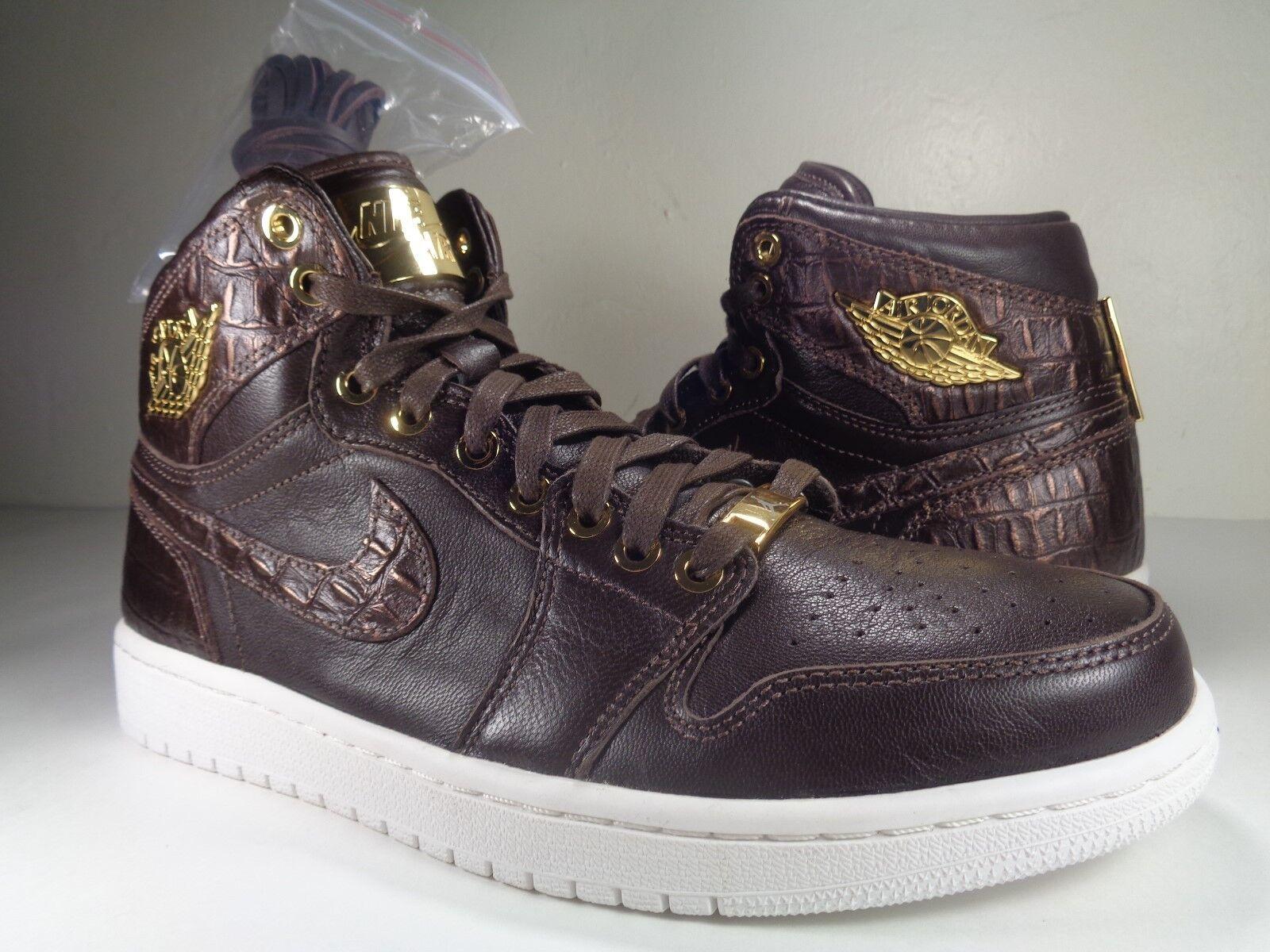 Nike Air Jordan 1 Pinnacle blanc Baroque Brown Metallic Gold blanc Pinnacle SZ 9 2be9b4